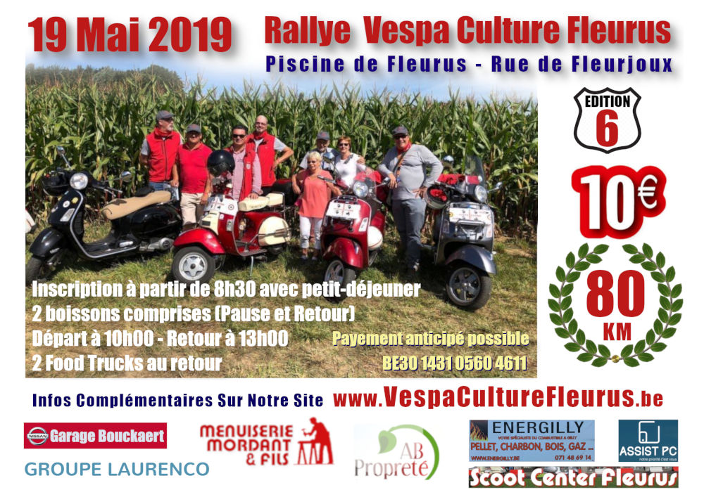 Rallye Club Vespa Fleurus 2019
